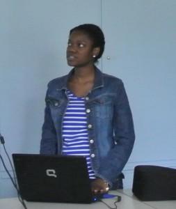 Claudia presenting