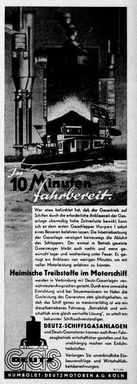Deutz Schiffsgas Anzeige