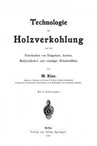 Klar_Holzverkohlung 1903_Titel