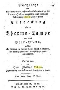 Thermolambe Lebon 1802 Titel